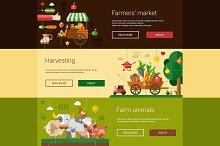 Farm & Agriculture Banners Set