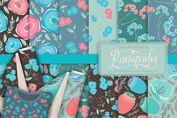 Ranunculus 01 - Seamless Patterns
