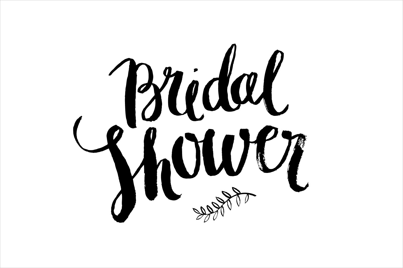 bridal shower brush vector web elements creative market