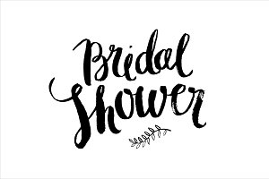 bridal shower brush vector
