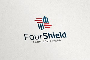 Four Shield - Stripe Security Logo