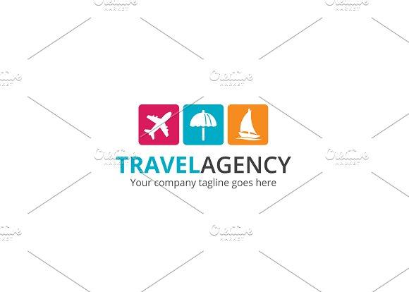 Travel Agency V2 Logo Templates Creative Market