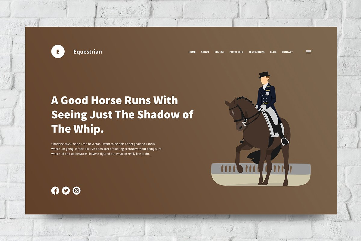 Equestrian Web Header PSD and Vector