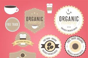 Coffee Cafe Badges/Logo, Vol 1