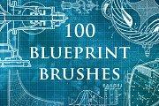 100 Blueprint Technology Brushes
