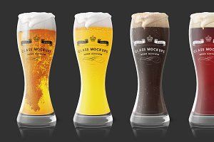 Glass Mockup - Beer Glass Mockup 1