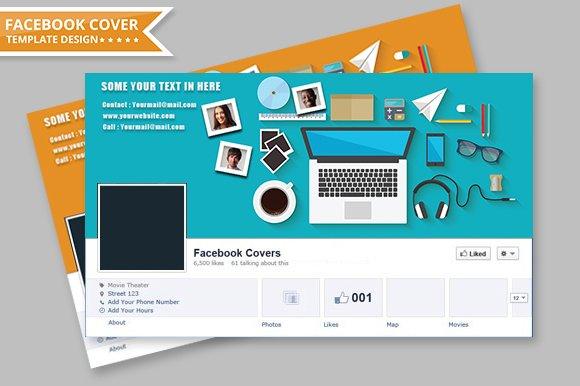 facebook cover design web elements creative market