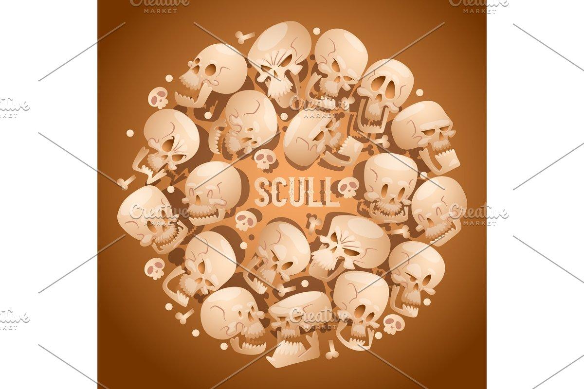 Skull pattern vector dead head in Textures