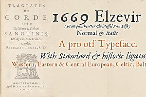 1669 Elzevir OTF (PRO)