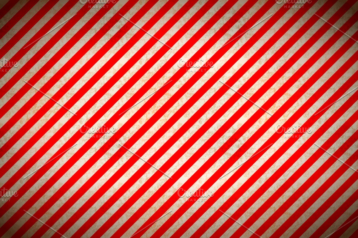 Warning red and white stripes
