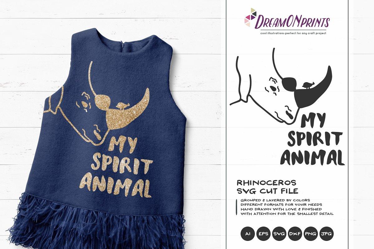 Rhino SVG - My Spirit Animal SVG Cut