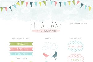 Bunting Web Kit - Blog Elements Kit