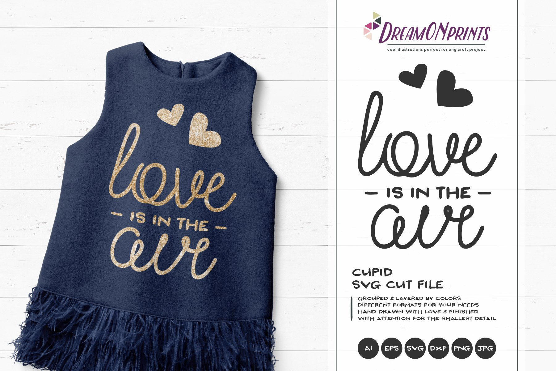 Love Is In The Air Svg Vector Pre Designed Photoshop Graphics Creative Market