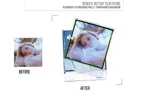 Instant film border frame template.