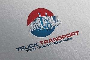 Truck Transport Logo + Stationery