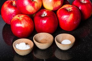 Red apples with spices