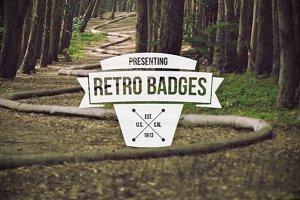 30 Retro Badges