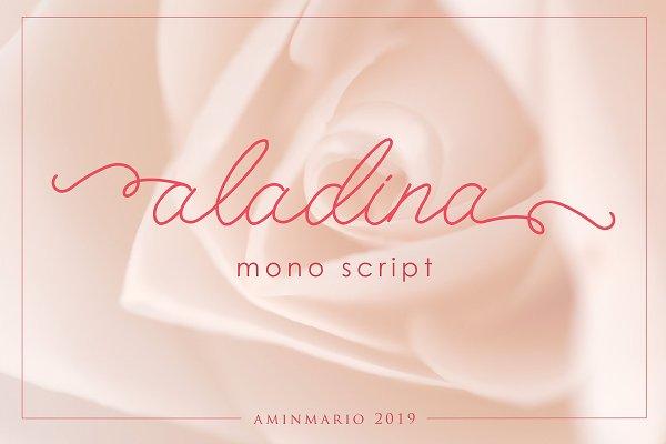 ALADINA | cute monoline script