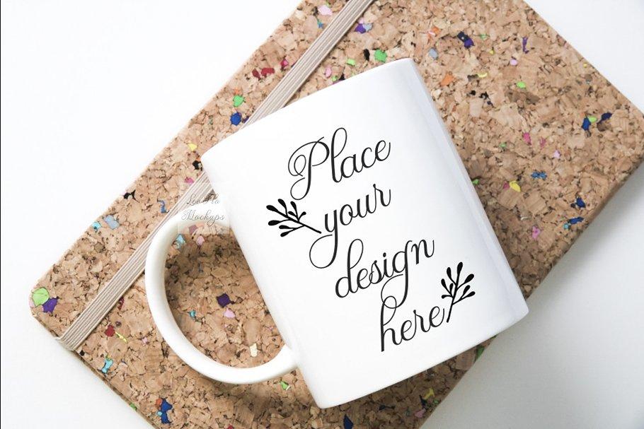 Coffee mug mockup flatlay eco photo