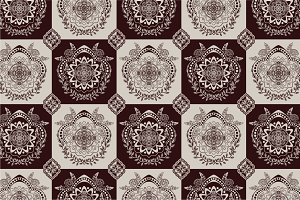 5 Monochrome ornamental patterns