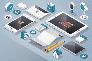 Vector Smartphone & Tablet Elemets
