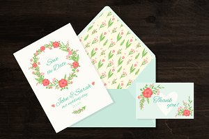 Wedding invitation card+bonus