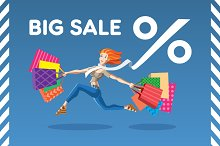 Vector illustration Big Sale