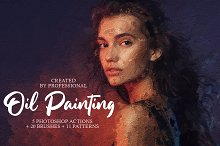Oil Painting Photoshop Actions by  in Plugins