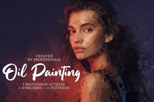 Photoshop Actions - Oil Painting Photoshop Actions