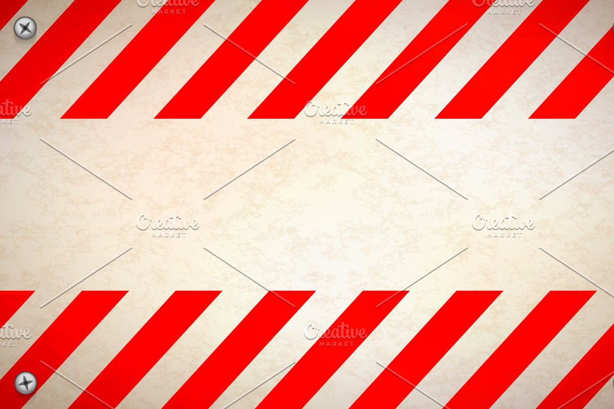 Red and white blank warning sign