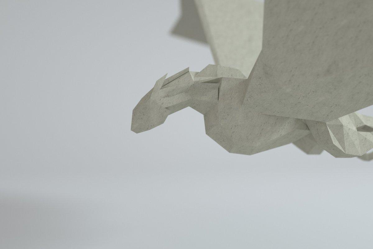 Low Poly Paper Dragon
