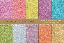 Digital Paper-Glitter-Happy Day