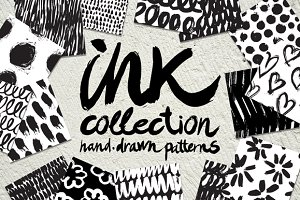 Vector collection of ink patterns