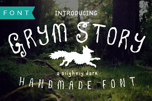 Grym Story Hand-Drawn, True Type.