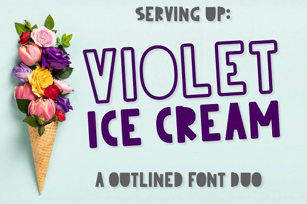 Violet Ice Cream - An Outlined Duo