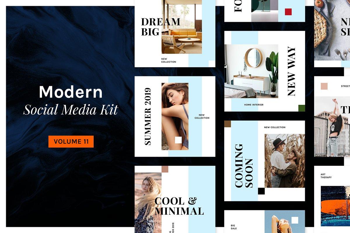 . Modern Social Media Kit  Vol  11