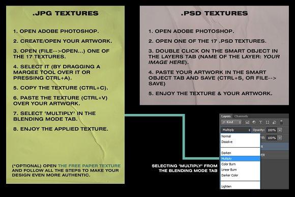 Wrinkle Paper Mockups & Textures