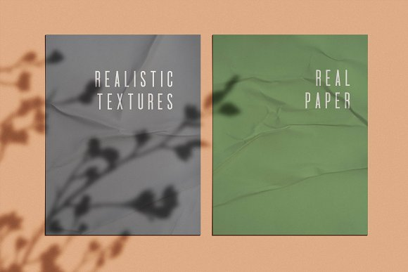 Wrinkle Paper Mockups & Textures in Scene Creator Mockups - product preview 8