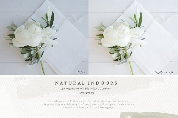 Photoshop Actions: White Hart Design Co. - Photoshop Actions - Natural Indoors