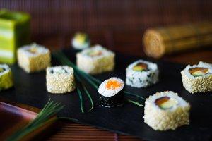 detail of sushi