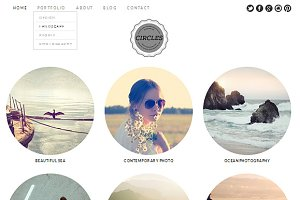 Circles Theme WordPress