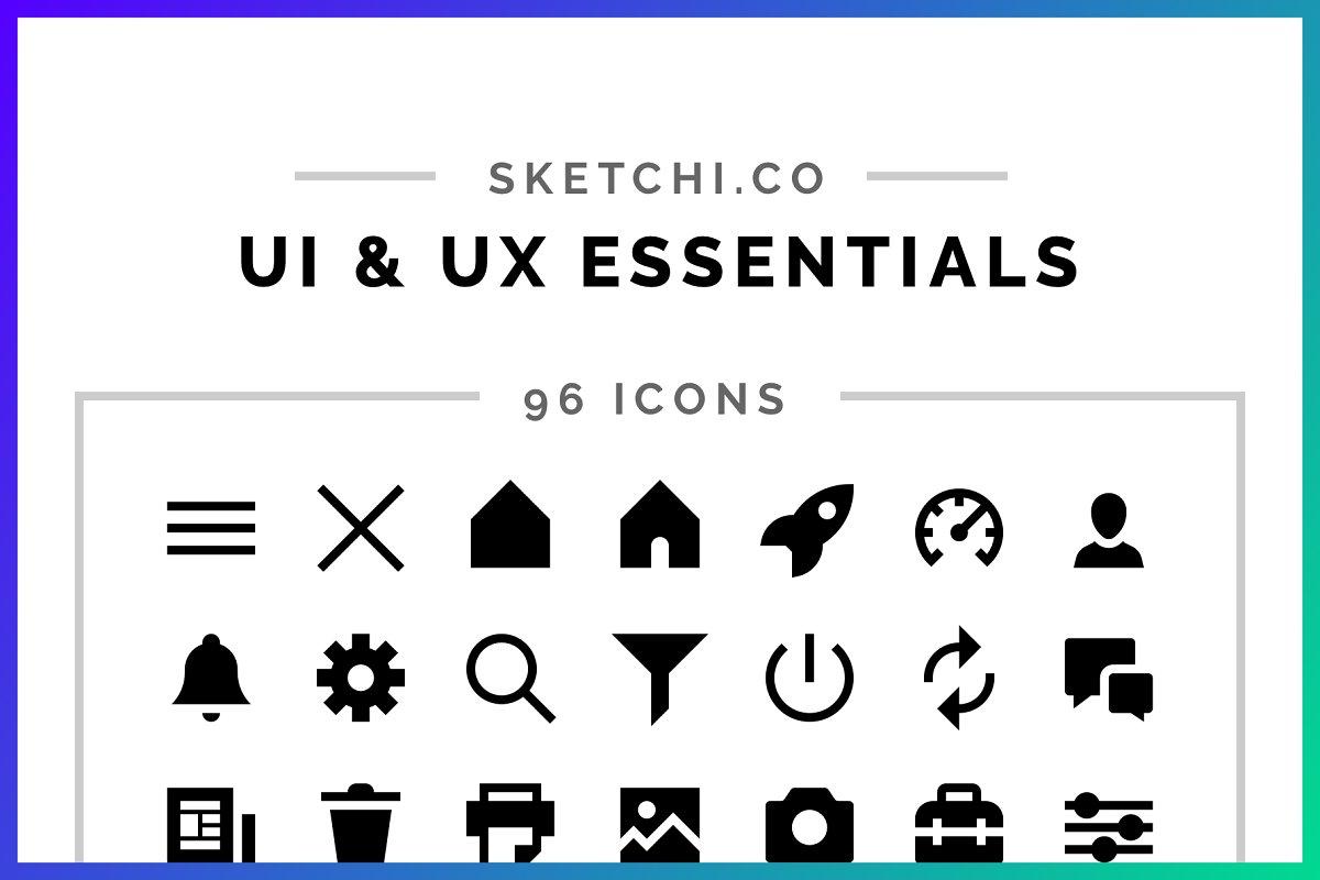 UI & UX Essentials Solid Icons