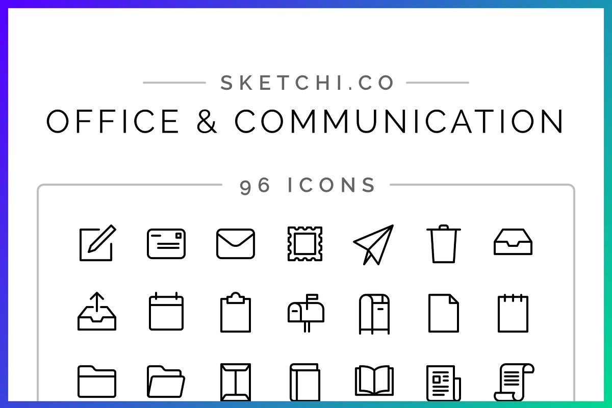 SALE! Office & Communication Icons
