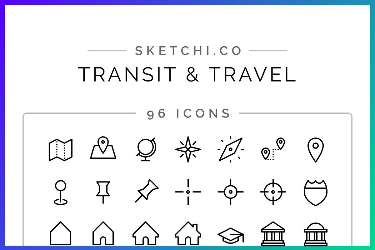 SALE! Travel & Transit Icons