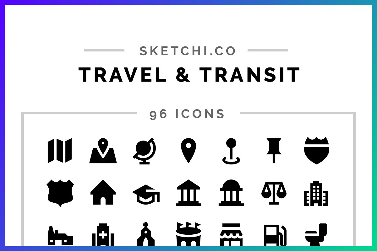 Travel & Transit Solid Icons