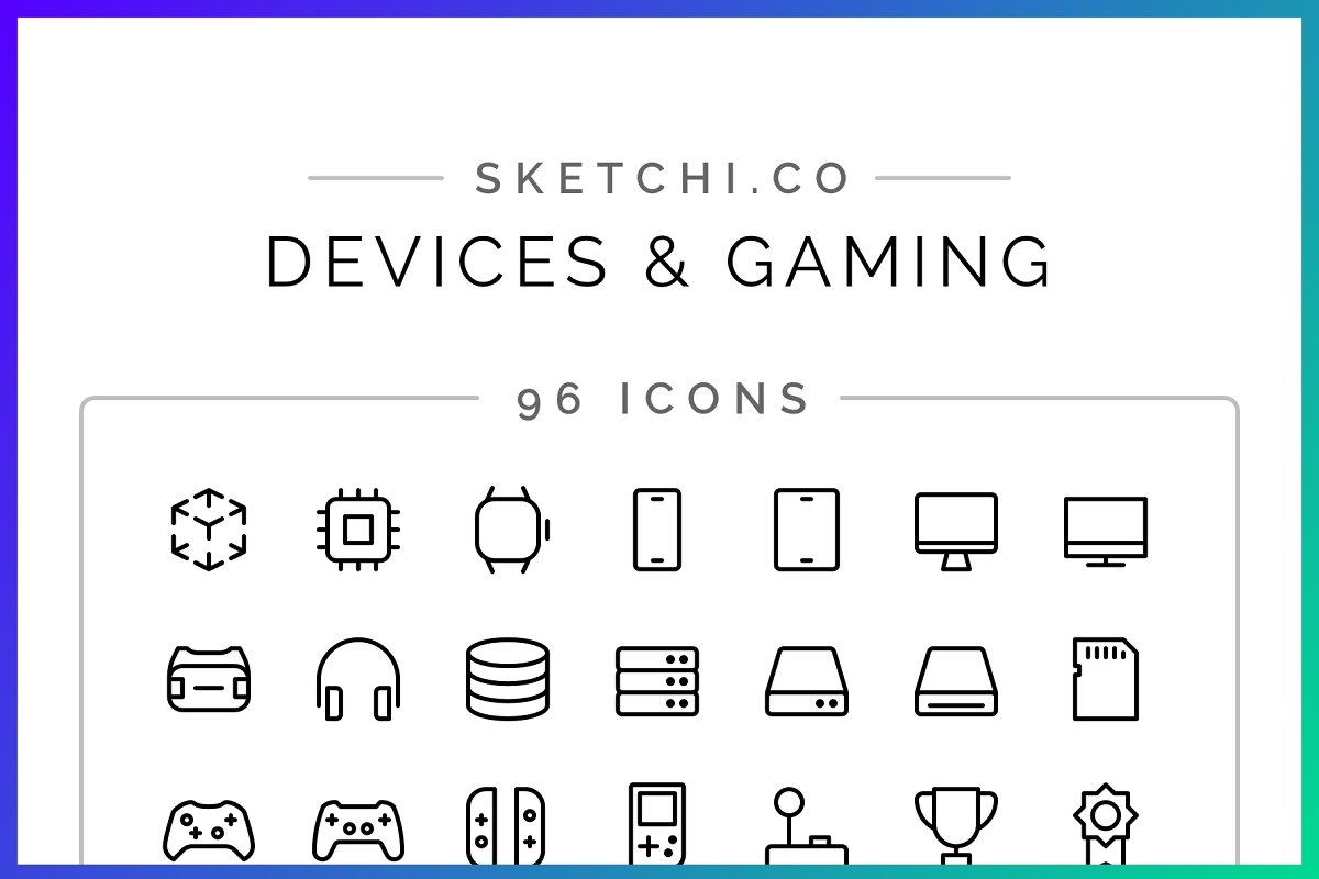 SALE! Devices & Gaming Icons