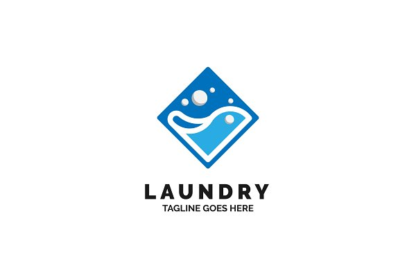 laundry logo design creative illustrator templates creative market laundry logo design