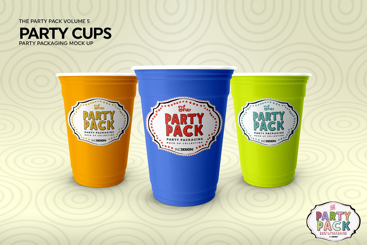 Party Cups Mockup in Branding Mockups - product preview 4