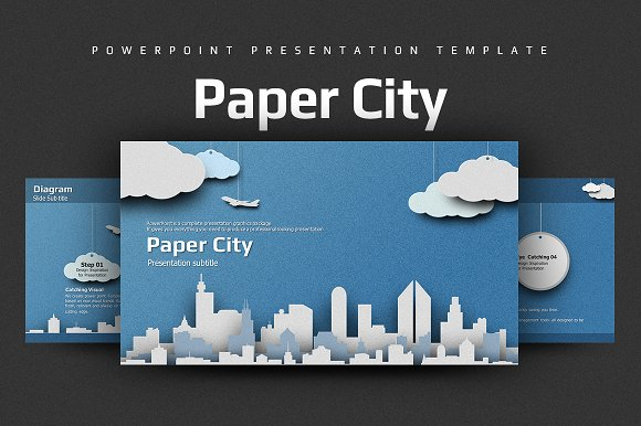 Paper City ~ Presentation Templates ~ Creative Market