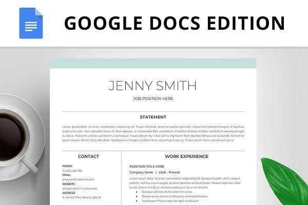 Resume Template Cv Google Docs Creative Resume Templates Creative Market
